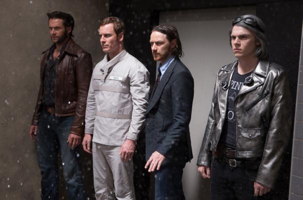 X-Men: Giorni di un futuro passato - Hugh Jackman, Michael Fassbender, James McAvoy ed Evan Peters in azione