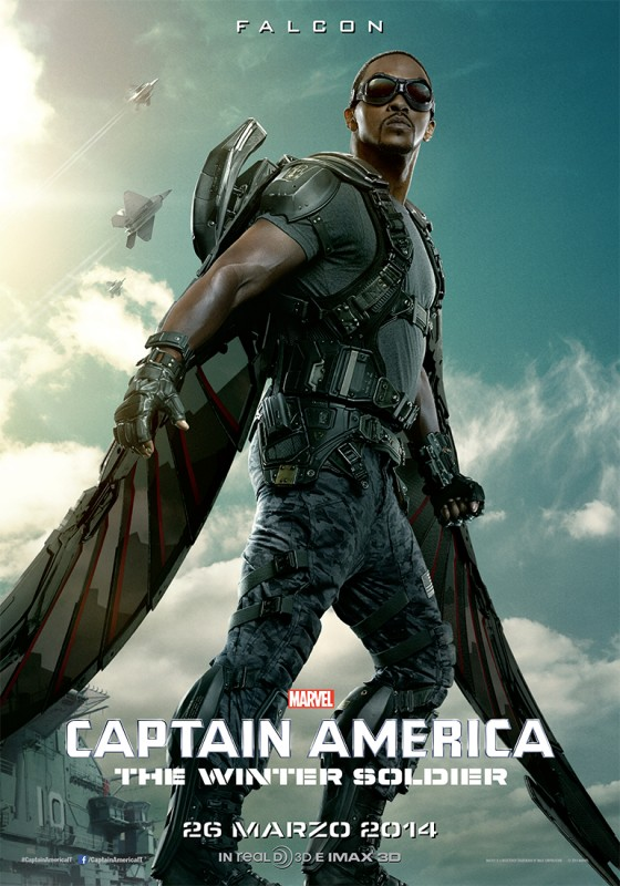 Captain America: The Winter Soldier, Anthony Mackie nel character banner di Falcon