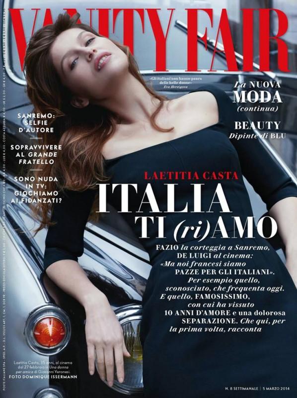 Laetitia Casta sulla cover di Vanity Fair Italia - gennaio 2014