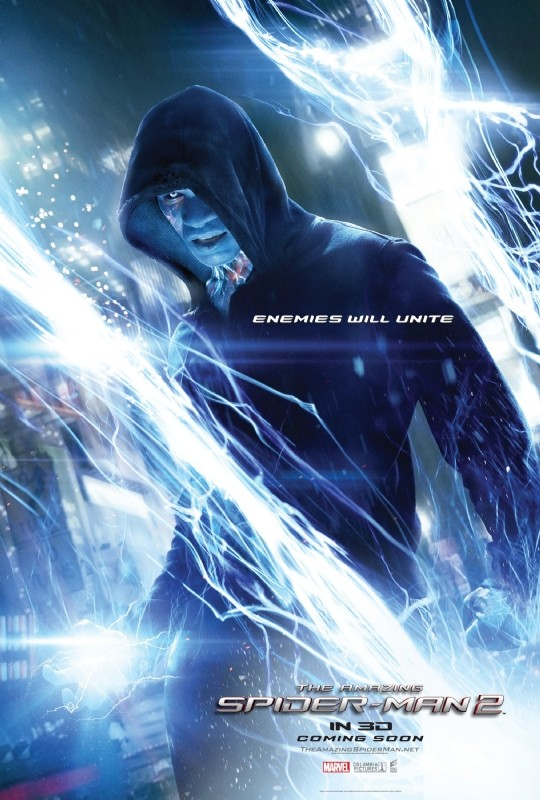 The Amazing Spider-Man 2: il chacarter poster di Electro/Jamie Foxx
