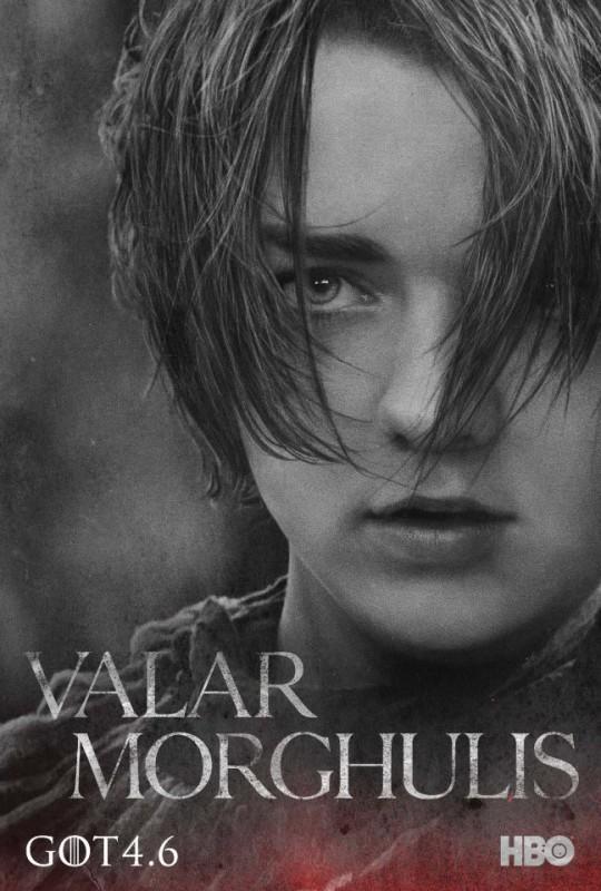Il trono di spade: character poster per Arya Stark per la quarta stagione del serial