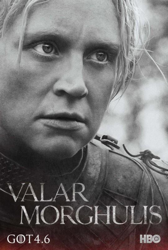 Il trono di spade: character poster per Brienne di Tarth per la quarta stagione del serial