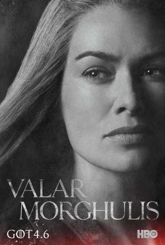 Il trono di spade: character poster per Cercei Lannister per la quarta stagione del serial