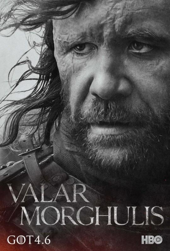 Il trono di spade: character poster per Sandor 'Il mastino' Clegane per la quarta stagione del serial
