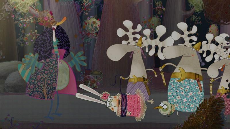 Pipì, Pupù e Rosmarina: Un'immagine tratta dallo special Il flauto magico