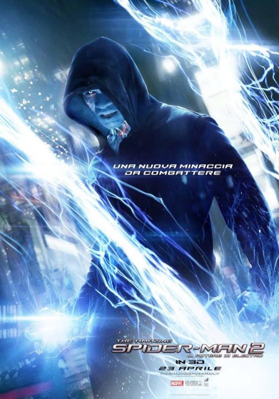 The Amazing Spider-Man 2: il chacarter poster italiano di Electro/Jamie Foxx