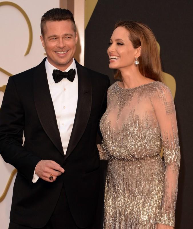 Brad Pitt e Angelina Jolie sul red carpet degli Oscar 2014