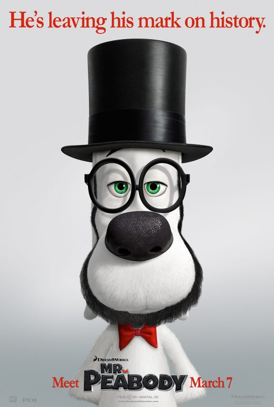 Mr. Peabody & Sherman: nuovo bizzarro character poster