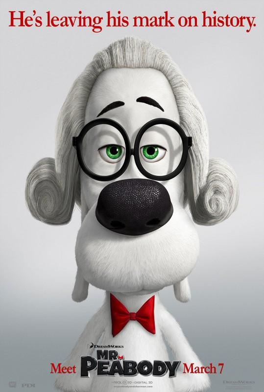 Mr. Peabody & Sherman: nuovo divertente character poster
