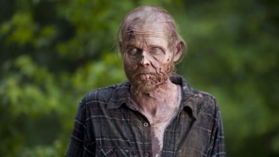 The Walking Dead: il primo piano di un Errante nell'episodio Non tutto è perduto