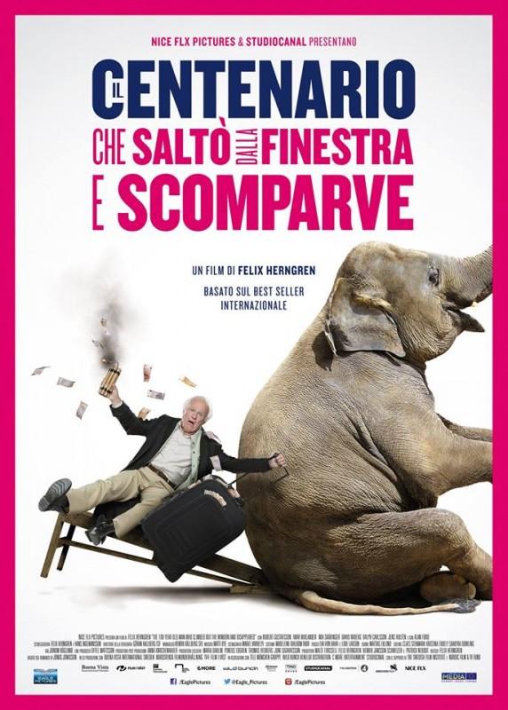 Il centenario che saltò dalla finestra e scomparve: la locandina italiana