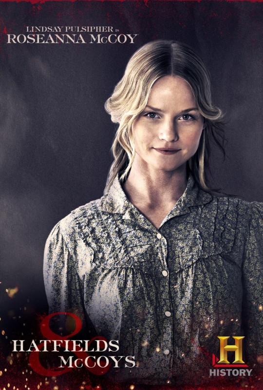 Lindsay Pulsipher in un character poster per Hatfields & McCoys