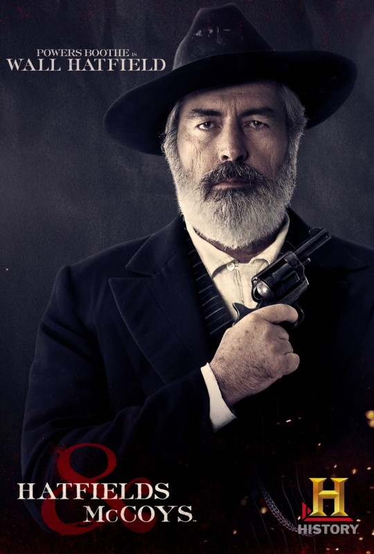 Powers Boothe in Hatfields & McCoys - character poster