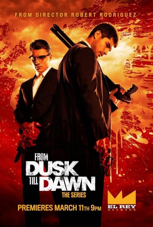 From Dusk Till Dawn: The Series: D.J. Cotrona e Zane Holtz in un manifesto promozionale