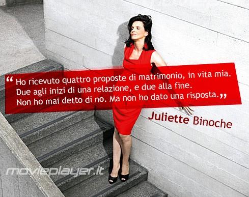 Juliette Binoche - una ecard dell'attrice dal condividere sui social