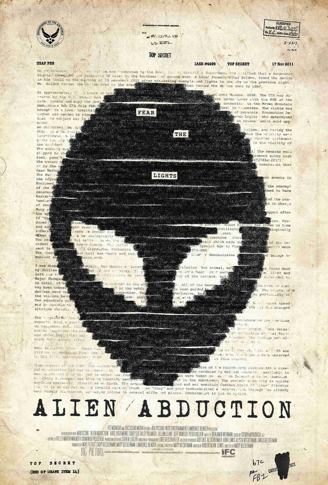 Alien Abduction: la locandina del film