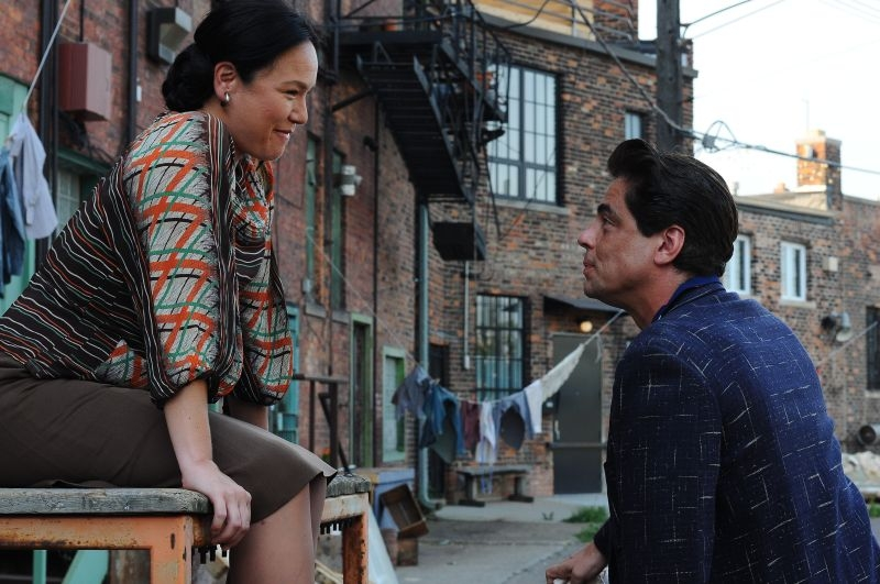 Jimmy P. (Psychotherapy of a Plains Indian) : Misty Upham in una scena del film con Benicio Del Toro