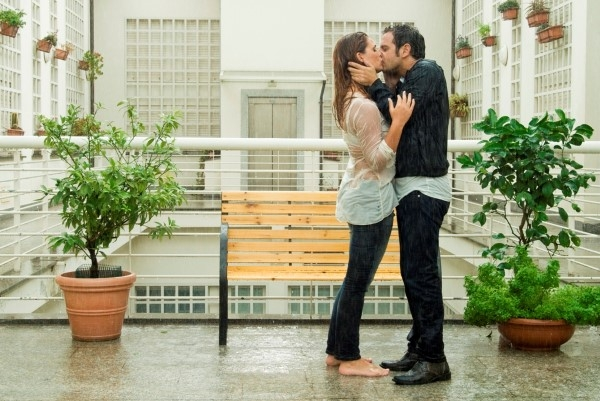 Ti sposo ma non troppo: Gabriele Pignotta e Vanessa Incontrada provano una scena sul set del film
