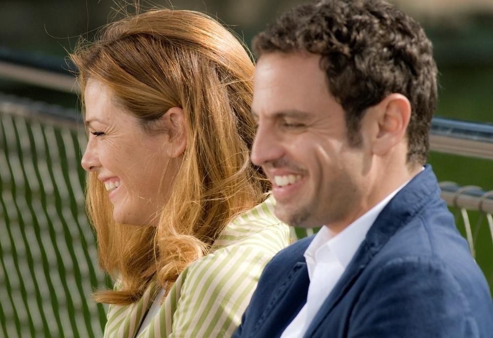 Ti sposo ma non troppo: Gabriele Pignotta e Vanessa Incontrada sorridenti sul set del film