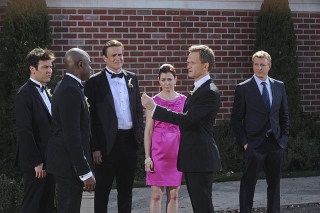 How I Met Your Mother: Neil Patrick Harris, Alyson Hannigan, Wayne Brady, Jason Segel e Josh Radnor nell'episodio Gary Blauman