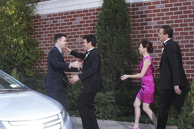 How I Met Your Mother: Taran Killam, Alyson Hannigan, Jason Segel e Josh Radnor nell'episodio Gary Blauman
