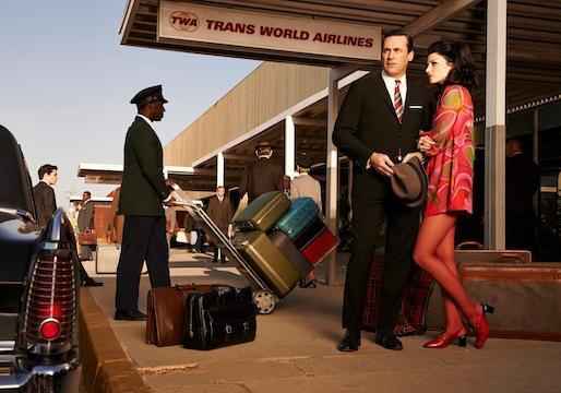 Mad Men: un'immagine promozionale per Jon Hamm e Jessica Paré