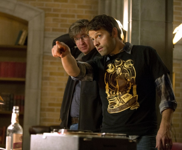 Supernatural: Misha Collins sul set dell'episodio Mother's Little Helper
