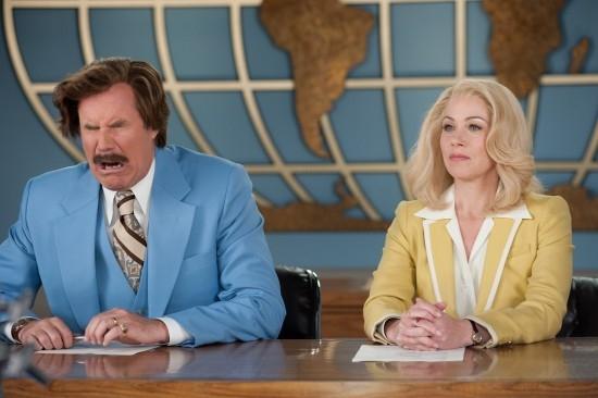 Anchorman 2 - Fotti la notizia: Will Ferrell e Christina Applegate in un buffo momento