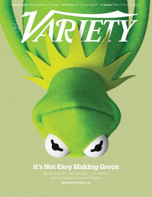 Muppets Most Wanted - Kermit sulla cover di Variety per promuovere il film