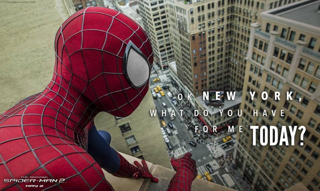 The Amazing Spider.Man 2: il profilo di Spider-Man sui tetti di New York