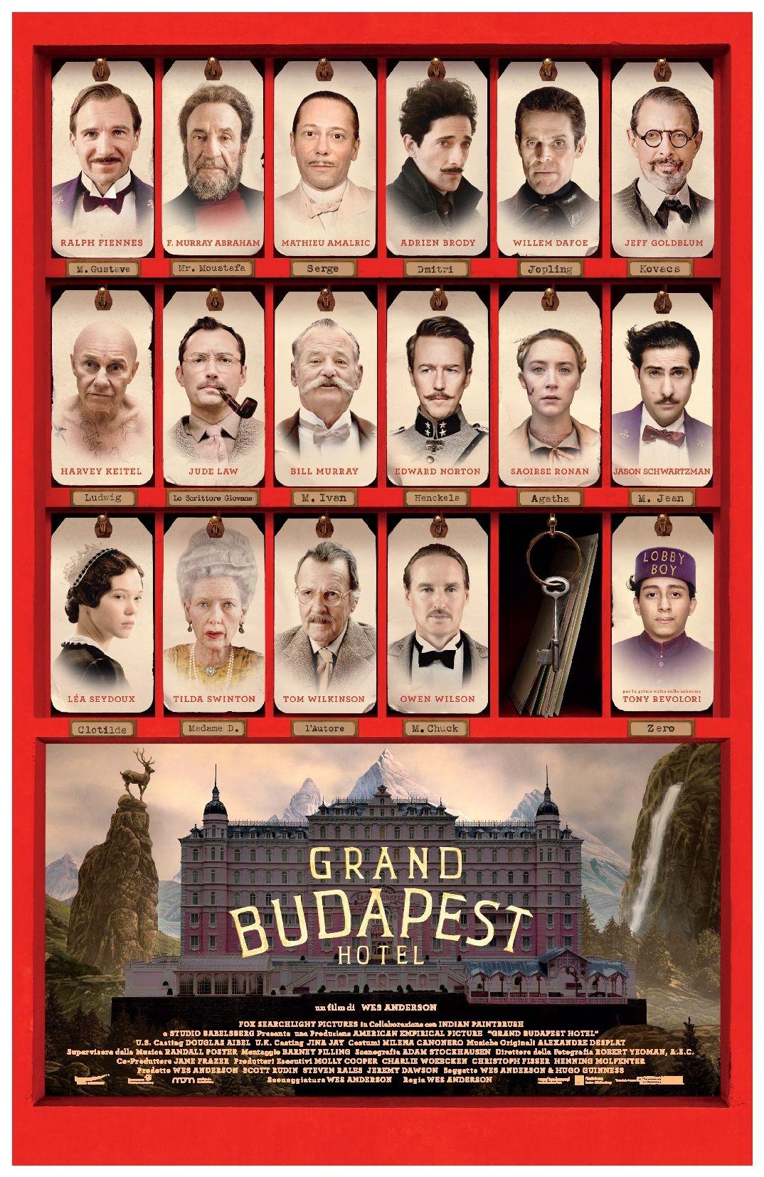 Grand Budapest Hotel: il poster italiano