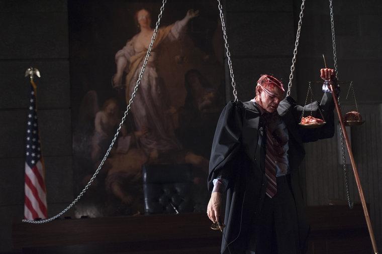 Hannibal: una scena gore dell'episodio Hassun