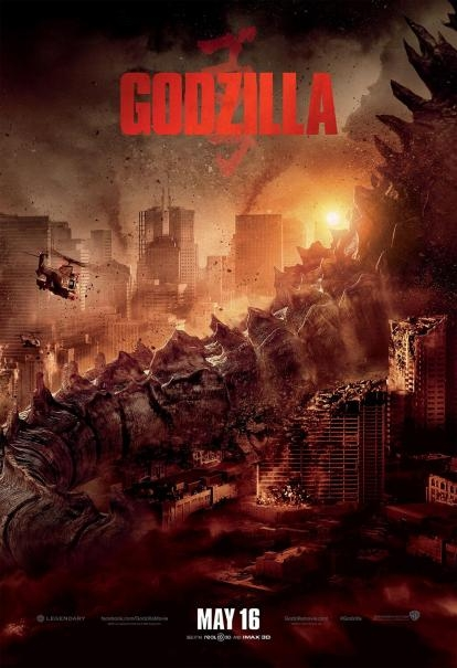 Godzilla: la nuova locandina con la coda della distruzione