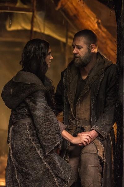 Noah: un tenero momento tra Russell Crowe e Jennifer Connelly