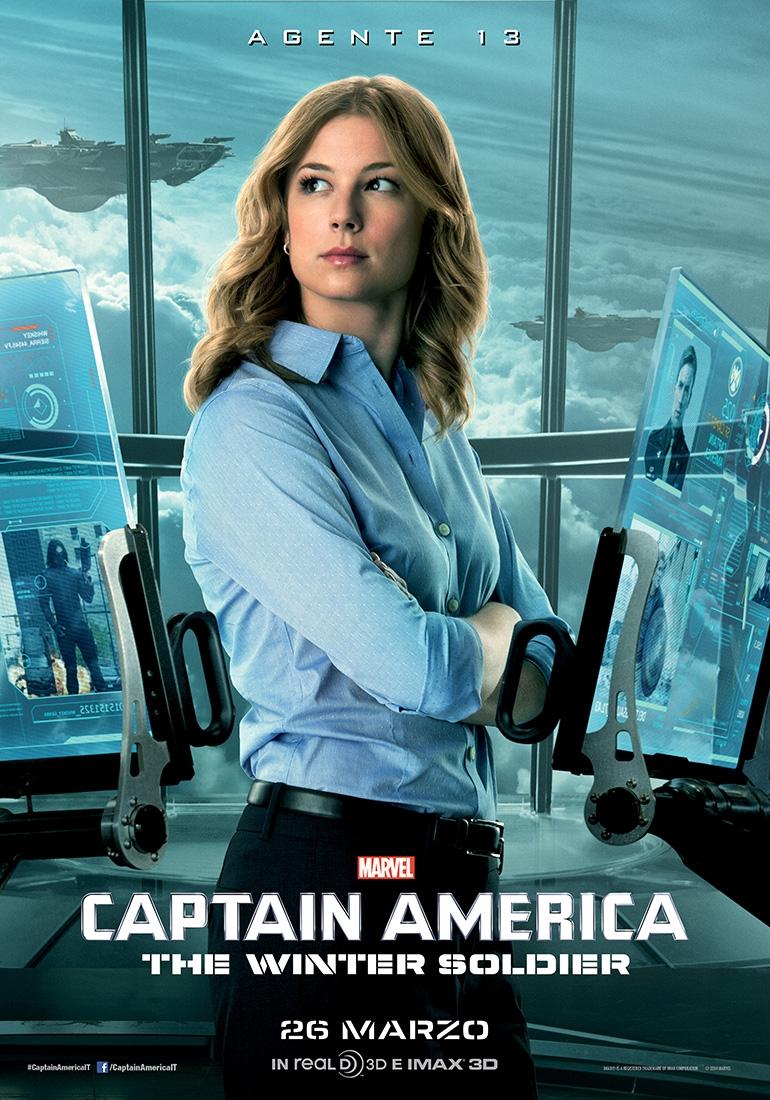 Captain America: The Winter Soldier: il character poster italiano dell'agente 13 interpretato da Emily VanCamp