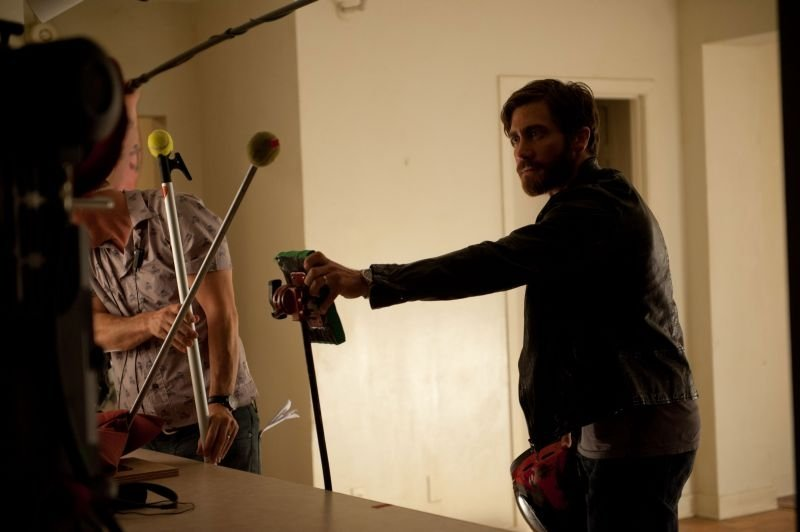 Enemy: Jake Gyllenhaal durante una ripresa