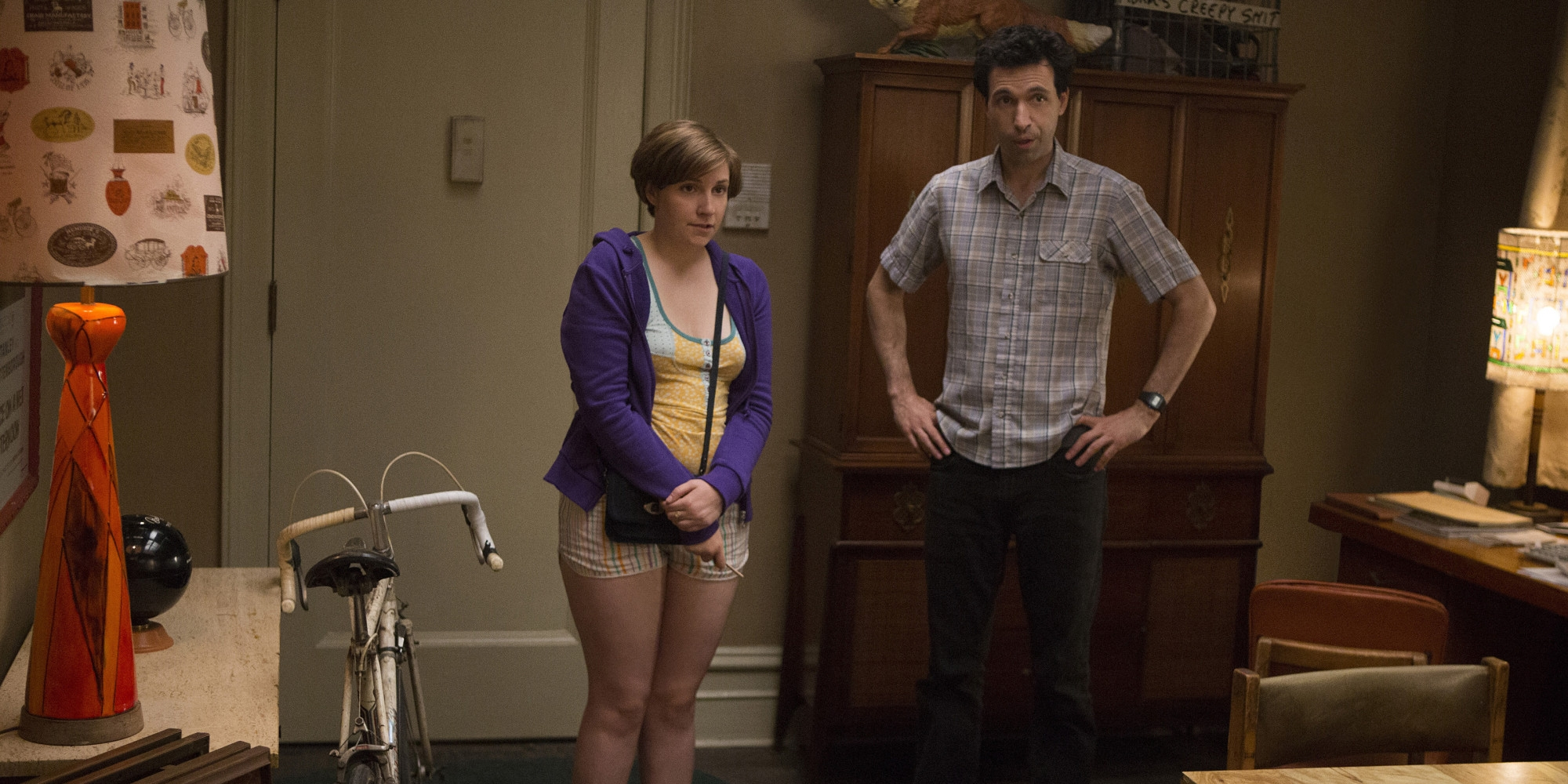 Girls: Lena Dunham in una scena dell'episodio I Saw You