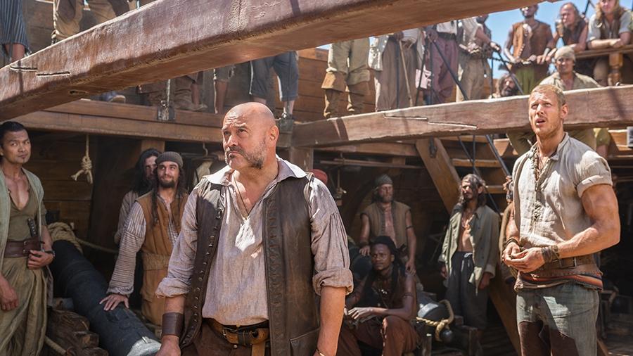 Black Sails: Tom Hopper e Mark Ryan nel quarto episodio della prima stagione