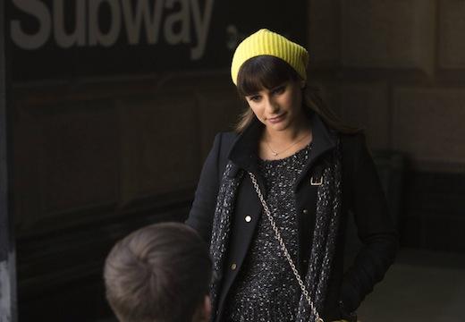 Glee: Lea Michele in una scena dell'episodio New New York