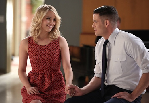 Glee: Mark Salling e Dianna Agron nell'episodio New Directions