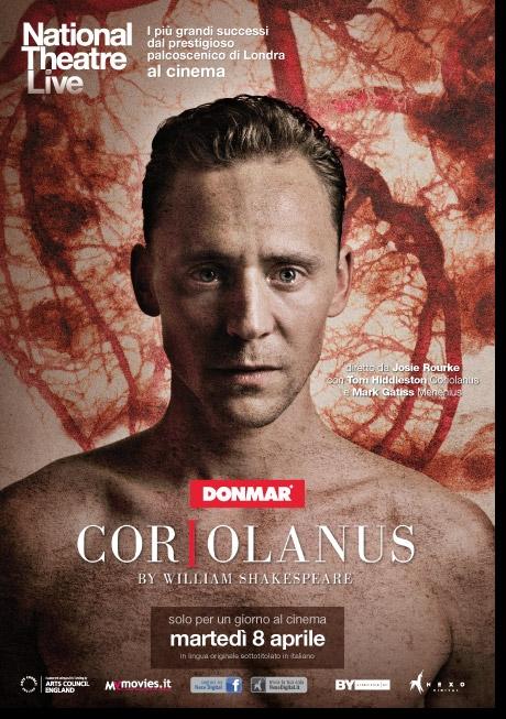 La locandina di Coriolanus, l'evento cinematografico che porta sul grande schermo lo spettacolo del National Theatre di Londra