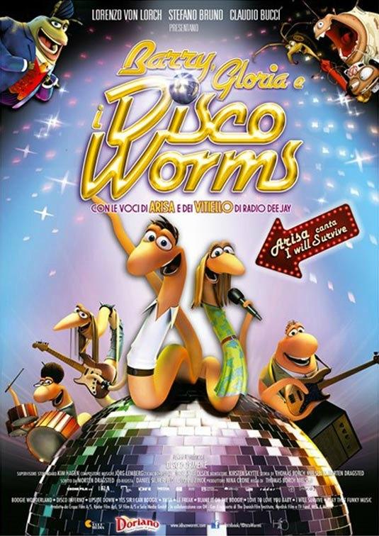 La locandina italiana di Barry, Gloria e i Disco Worms