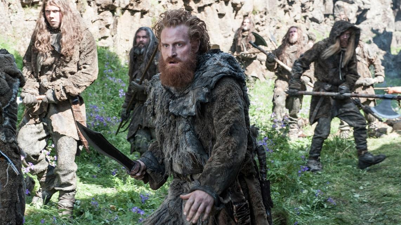 Il trono di spade: Kristofer Hivju in una scena della quarta stagione della serie