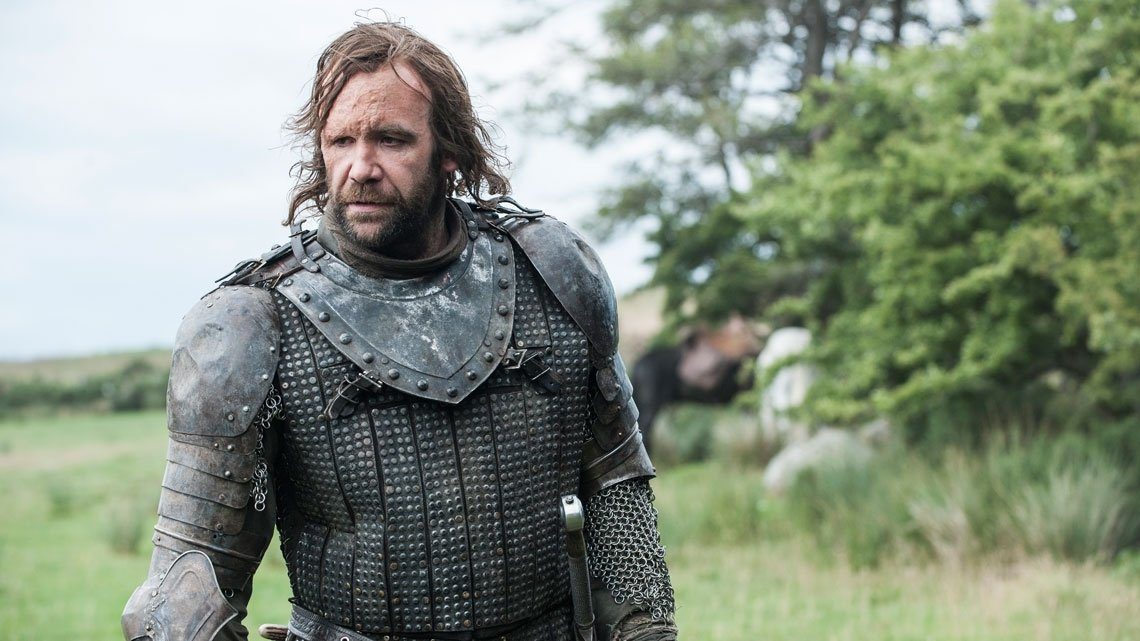 Il trono di spade: Rory McCann in una scena dell'episodio Breaker of Chains