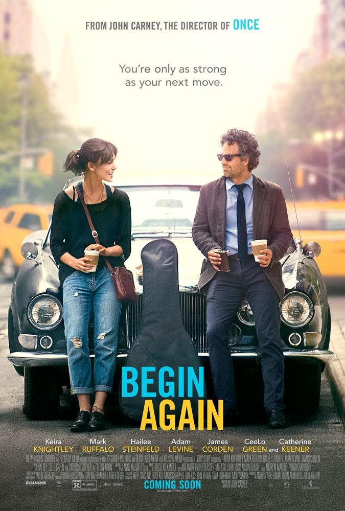 Begin Again - Tutto può cambiare: la locandina del film