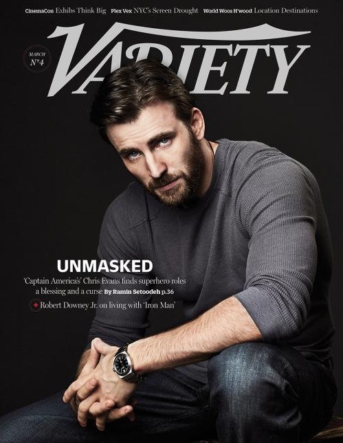 Chris Evans sulla cover di Variety (marzo 2014)