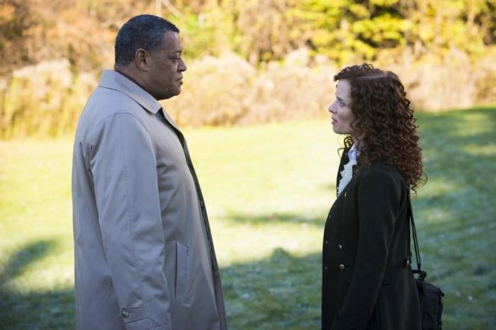 Hannibal: Lara Jean Chorostecki e Laurence Fishburne nell'episodio Mukozuke della seconda stagione