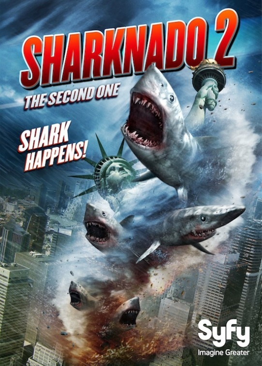 Sharknado 2: The Second One: la locandina del film