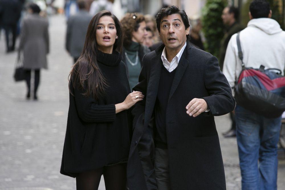 Un matrimonio da favola: Ilaria Spada insieme a Emilio Solfrizzi in una scena del film