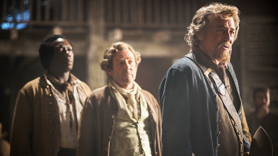 Black Sails: Patrick Lyster, Hakeem Kae-Kazim e David Butler nell'ottavo episodio della prima stagione